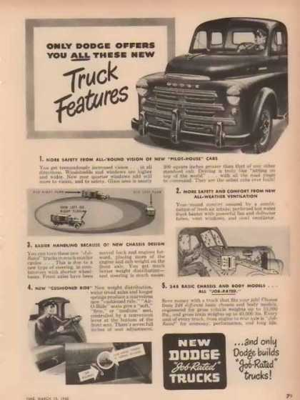 Dodge Trucks – Truck Features – Sold (1948)