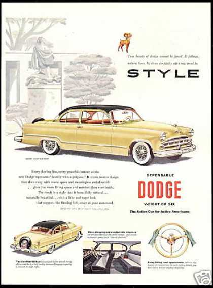 Dodge Coronet V-Eight Club Coupe Car (1953)