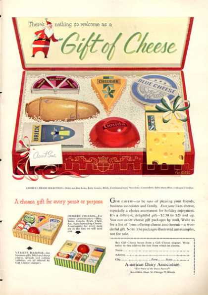 American Dairy Cheese Gift Box (1953)
