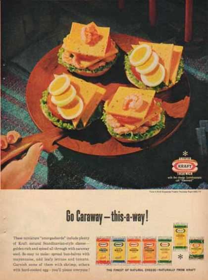 Kraft Cheeses &#8211; Miniature Smorgasbord (1965)