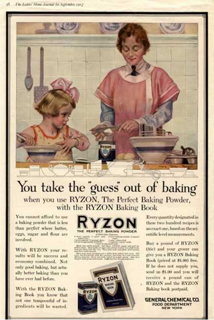 Cooking Ryzon Baking Powder, USA (1917)