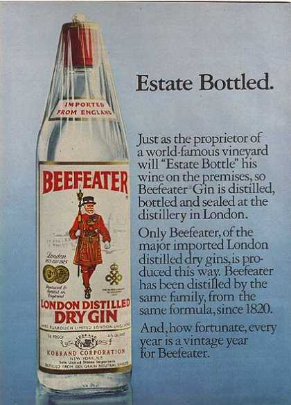 Beefeater's London Distilled Dry Gin (1978)
