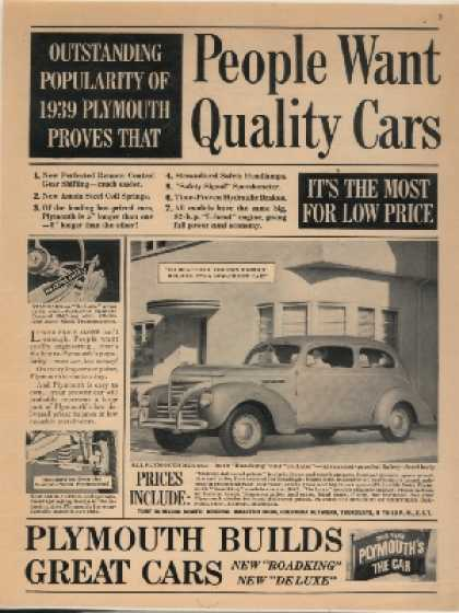 Chrysler's Plymouth (1939)