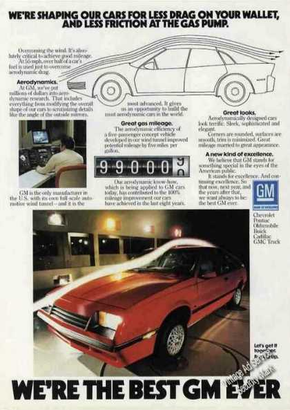 Gm Aerodynamic Styling To Increase Mileage Rare (1984)