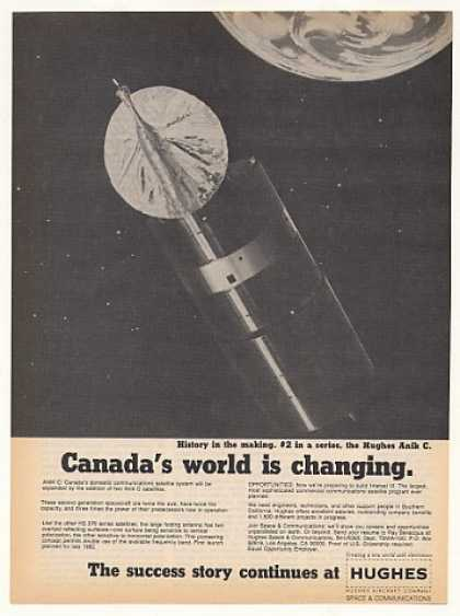 Hughes Anik C Canada Communications Satellite (1982)