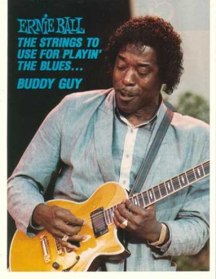 Buddy Guy Photo Ernie Ball Strings (1990)