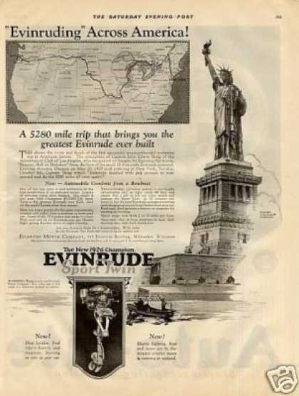 Evinrude Sport Twin Outboard Motor (1926)
