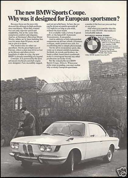 BMW Sports Coupe Car Photo (1967)