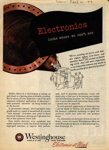 Westinghouse Electric & Manufacturing Company's Electronics – Electronics Looks Where We Can't See (1944)