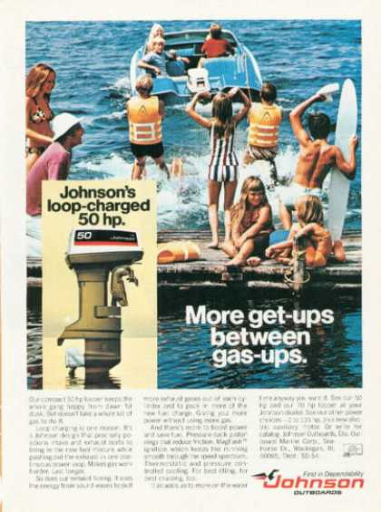 Johnson Outboard Boat Motor Water Skiing (1974)