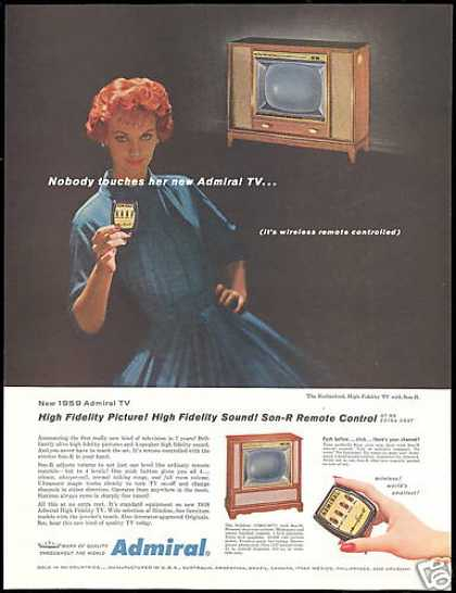 Admiral TV Television Photo Wireless Remote (1958)