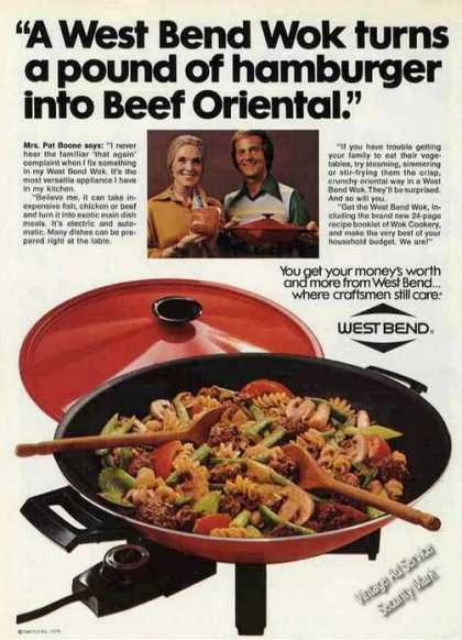 Pat Boone Photo West Bend Wok Beef Oriental (1976)