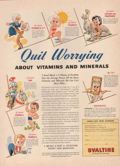Quit Worrying Ovaltine Food Drink (1942)
