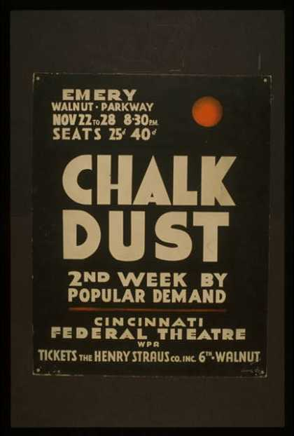 """Chalk dust"" – 2nd week by popular demand. (1937)"