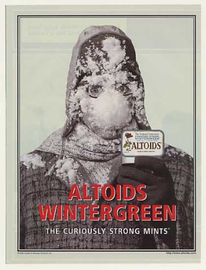 Altoids Wintergreen Curiously Strong Mints (2000)