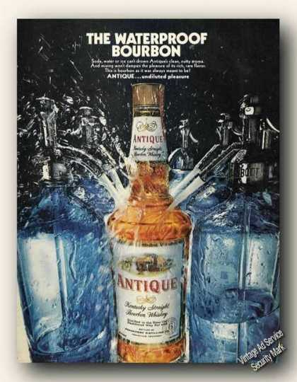 Antique the Waterproof Bourbon Advertising (1968)