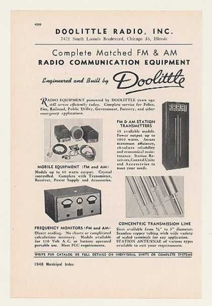 Doolittle FM AM Radio Communication Equipment (1948)