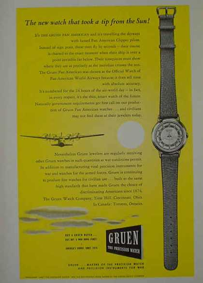 Gruen Watches Jewelry AND USF&G Fidelity Guaranty Insurance (1941)