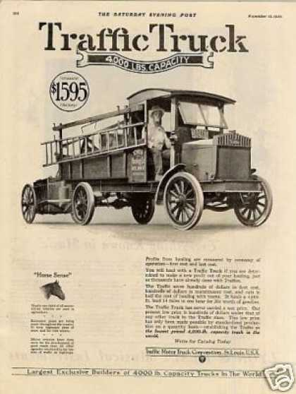 Traffic Truck Ad Tower Roofing Co. (1920)