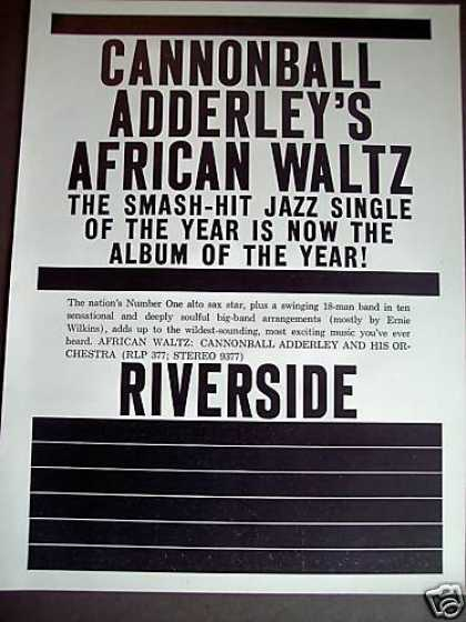 Cannonball Adderley African Waltz Record Promo (1961)