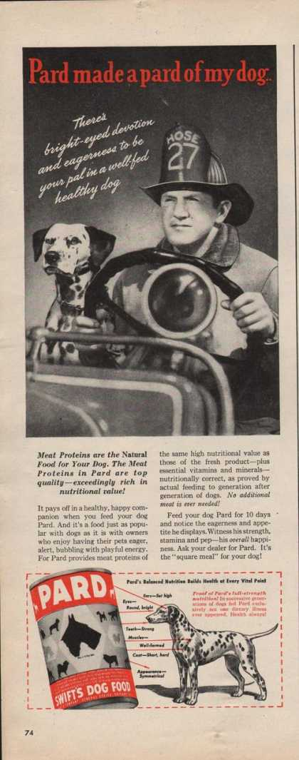Pard Swifts Dog Food (1942)