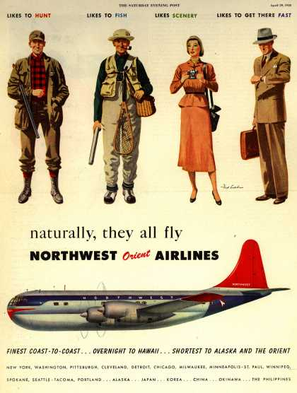 Northwest Orient Airlines – naturally, they all fly Northwest Orient Airlines (1950)