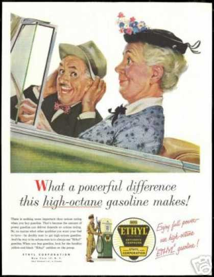Ethyl Gasoline Convertible Car Vintage (1954)