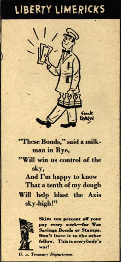 U. S. Treasury Dept.'s War Bonds – Liberty Limericks (1943)