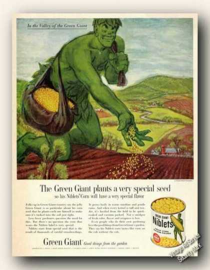 Valley of the Green Giant Art Niblets Corn (1961)