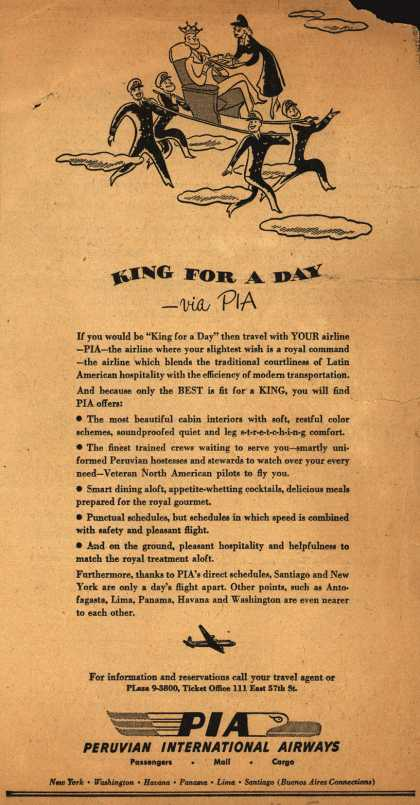 Peruvian International Airways – King For A Day (1948)