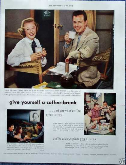 Pan American Coffee June Allyson Dick Powell (1952)