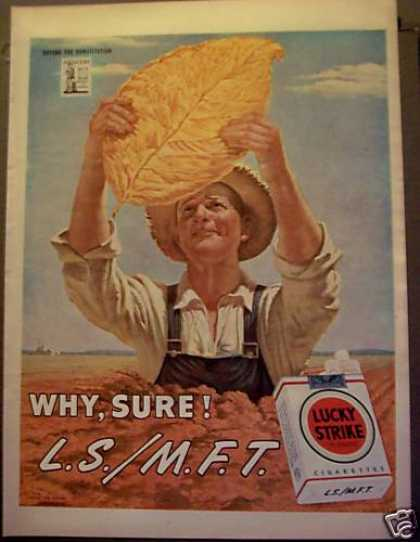 Lucky Strike Cigarettes Tobacco Farmer (1945)