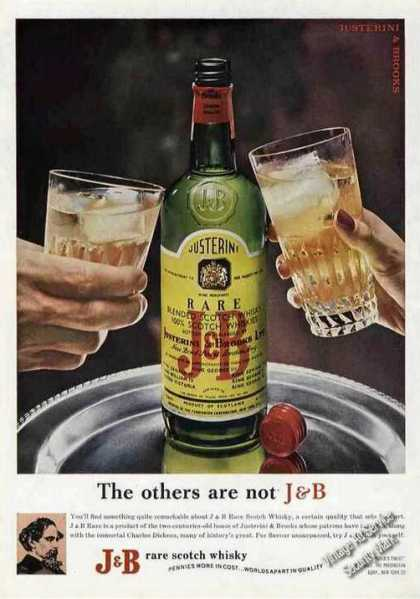 """The Others Are Not J&b"" Scotch Whiskey (1964)"