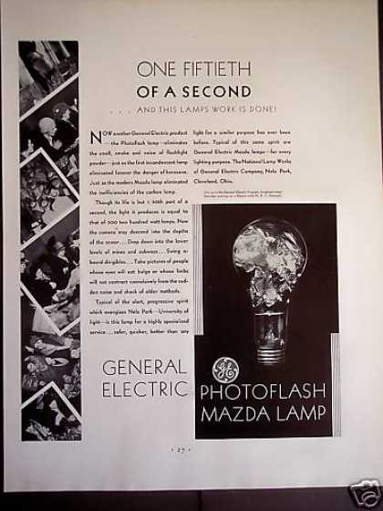 General Electric Photoflash Mazda Lamp (1931)