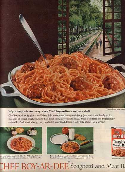 Chef Boy-Ar-Dee's Canned Spaghetti and Meat Balls (1959)