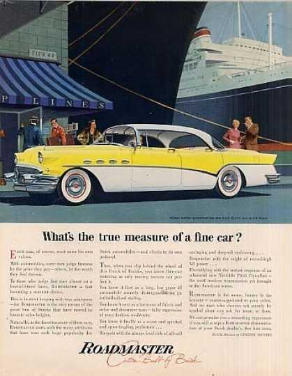 "Buick Roadmaster Car Ad ""What's the True... (1956)"