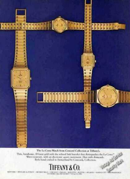 La Costa Watch Concord Collection at Tiffany's (1984)