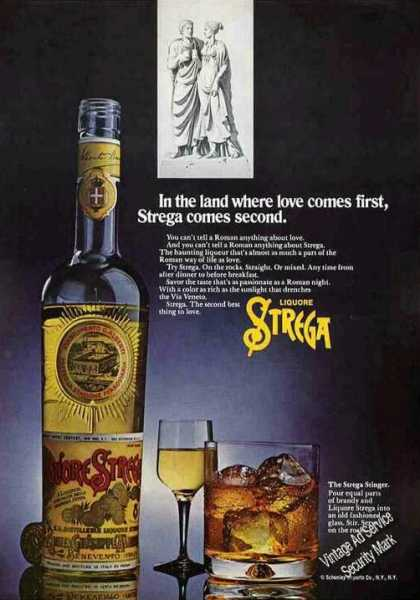 Liquore Stregga From Italy Nice Color (1972)