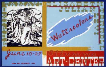 Watercolors, Ottumwa Art Center / BF. (1936)