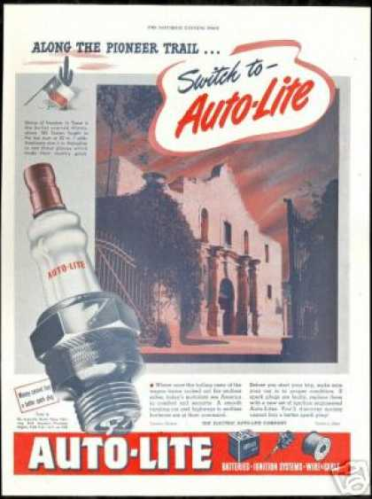 Texas Alamo Freedom Shrine Vintage Auto Lite (1947)