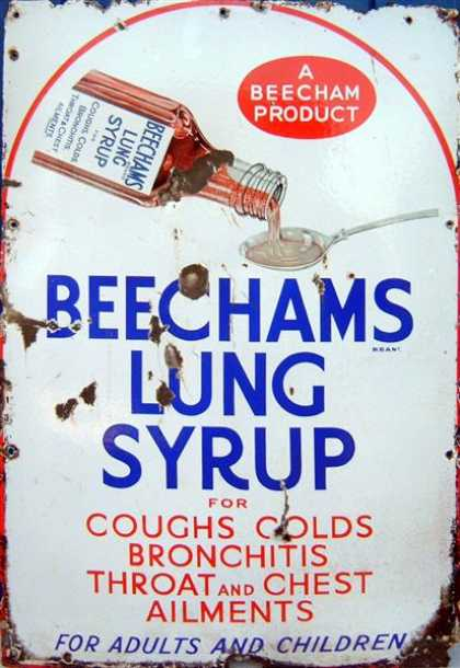 Beecham's Lung Syrup Sign