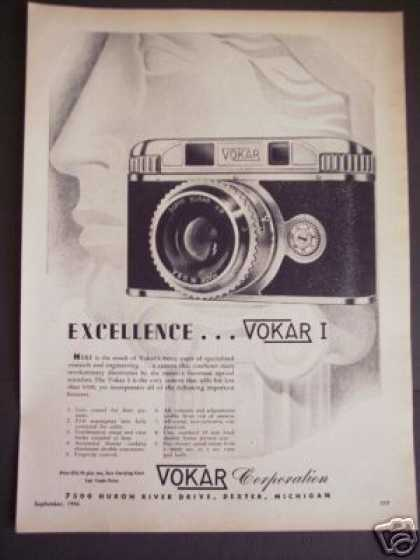 Usa Made Vokar I 35mm Camera Art (1946)