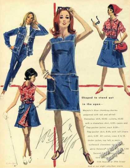 Rare Lord & Taylor Fashion Art Denim Advertising (1965)