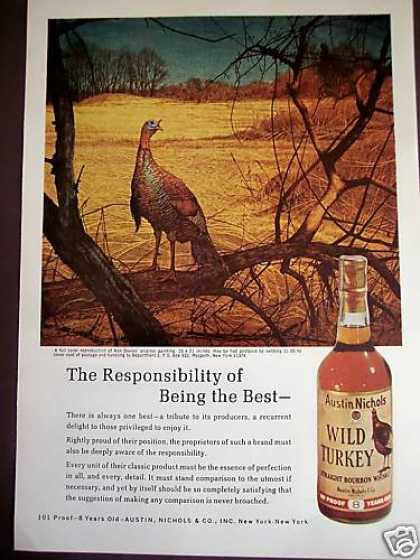 Ken Davies Art Wild Turkey Bourbon Whiskey (1971)