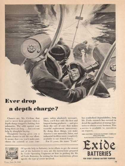 Exide Batteries Milityary (1943)
