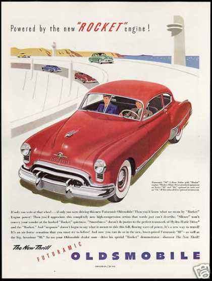 Oldsmobile Two Door Sedan Vintage Car Rocket (1949)