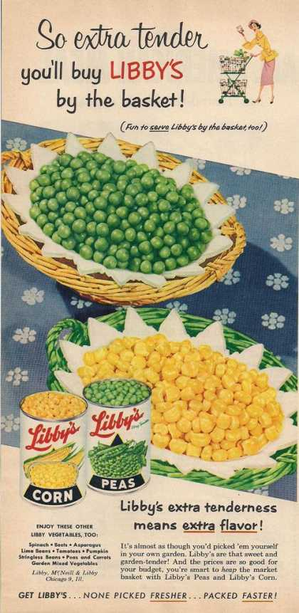 Libbys Corn &amp; Peas (1953)