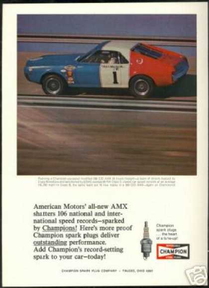 AMC AMX Race Car Photo Craig Breedlove Champion (1968)