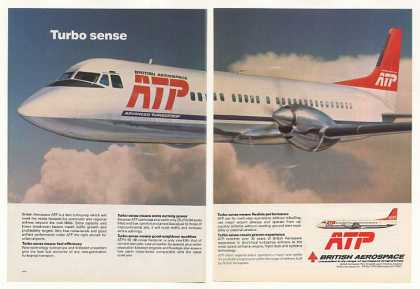 British Aerospace ATP Turboprop Airplane 2-Page (1982)