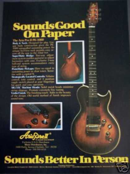 Aria Pro Ii Pe-1000 Guitar Photo (1979)